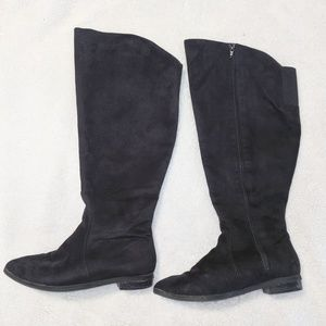 9W Wide calf over the knee boots -EUC-